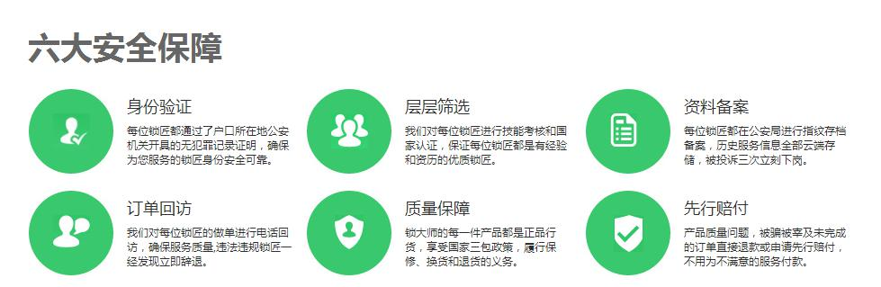 宜昌开锁公司六大安全保障